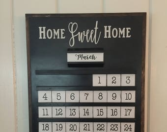Wood Perpetual Calendar. Hand made, each with its own unique look. A perfect gift for any occasion.