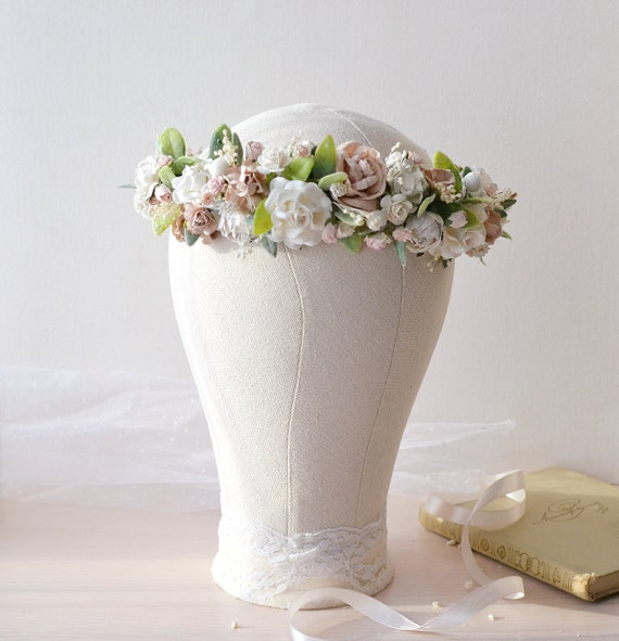 Bridal Bridesmaid Flower-Leaf Pattern Headband Wedding Tiara AD
