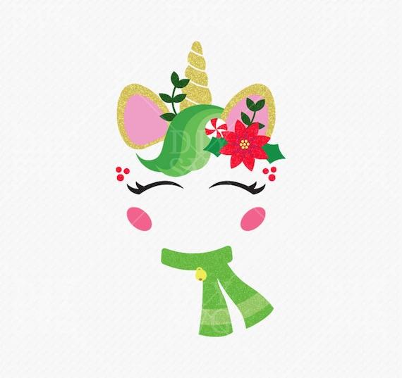 christmas unicorn svg christmas unicorn face unicorn clip ... (570 x 537 Pixel)