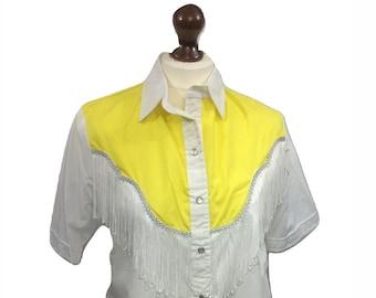 908a17e8 Western Wear Vintage Fringe Blouse Western Styling
