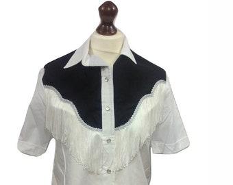 41f19151 Western Wear Vintage Fringe Blouse Western Styling | Etsy