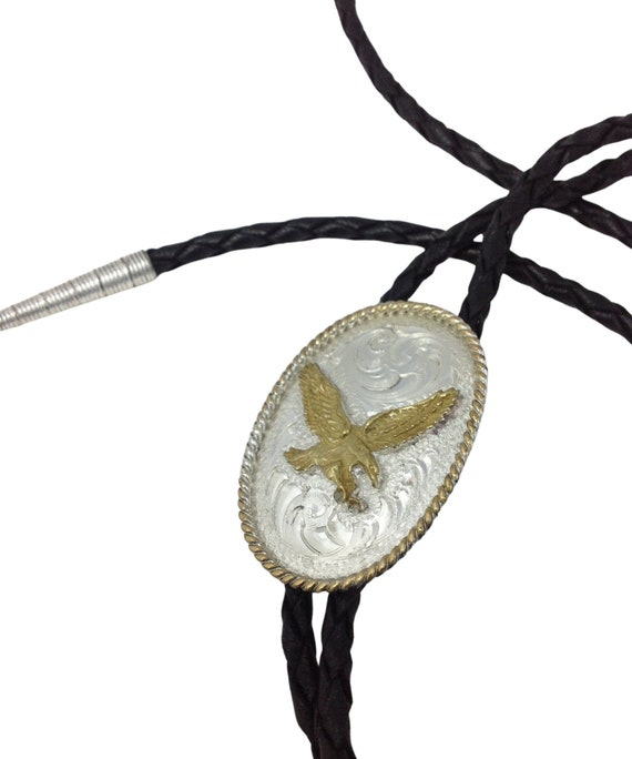 Western Bootlace Western Tie- Bolo Tie Necklace Montanna Silversmith Vintage Bolo Tie Cowboy Tie Western Styling
