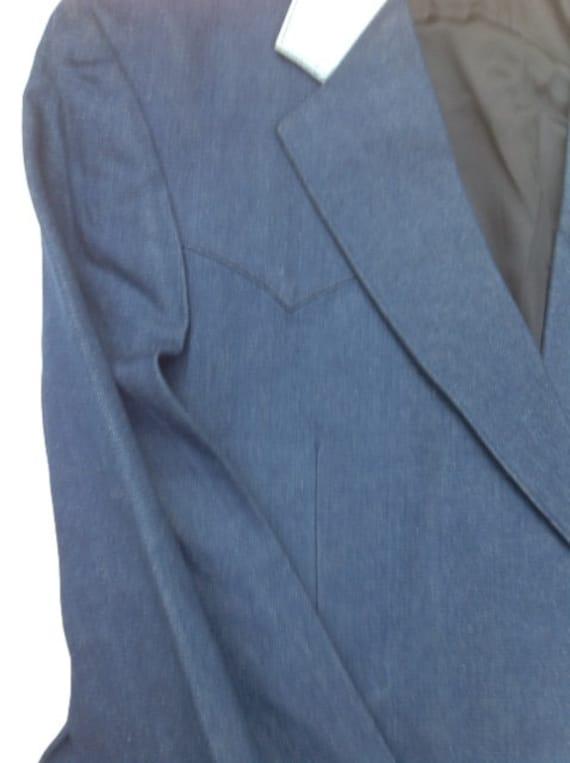 Western Jacket - H Bar C Denium Style Western Jac… - image 9