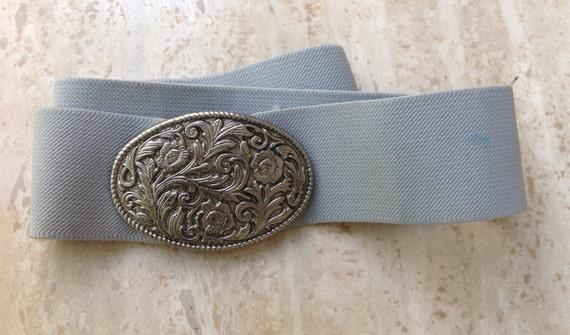Vintage Elasticated Belt - Retro Belt - American E