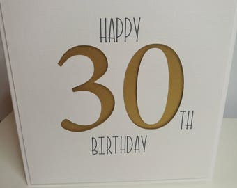 Happy 30th Birthday Card