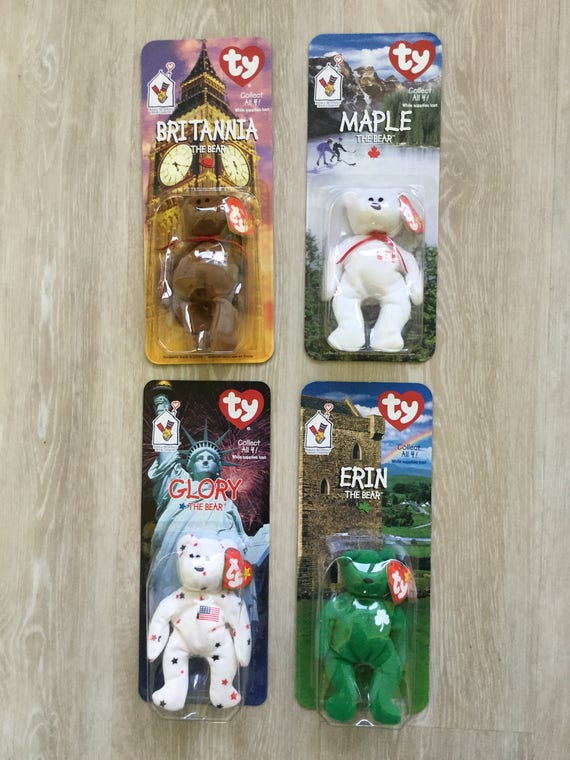 93c5bf27347 Ty Beanie Babies Rare McDonald s Collectors Set Of 4