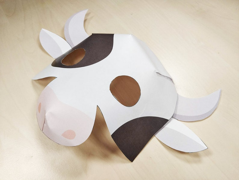 graphic regarding Cow Costume Printable identified as Cow Mask Printable Cow gown farm animal mask