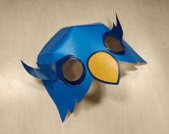 Owl Mask Printable Owl costume animal mask halloween