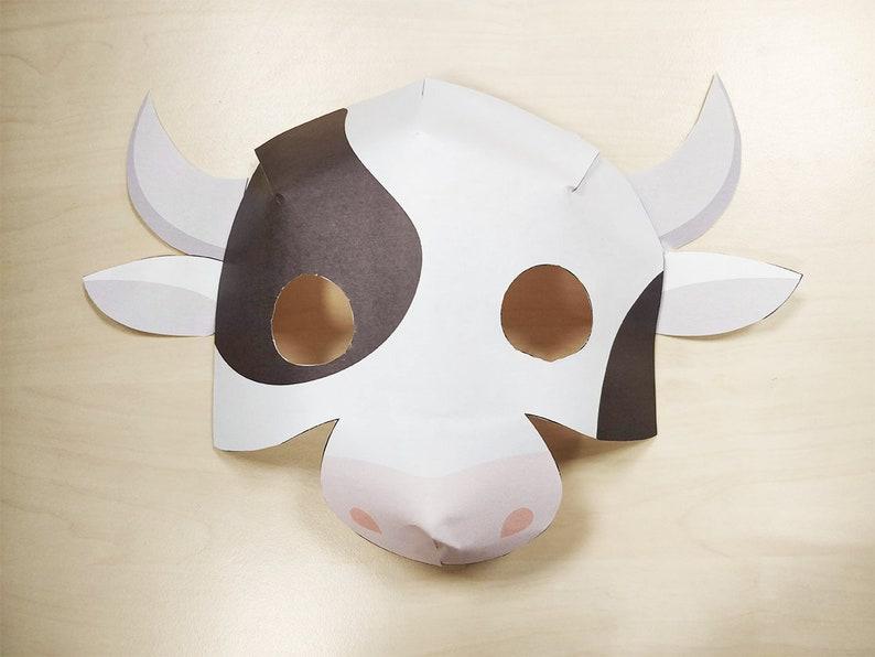 Cow Mask Printable Cow costume farm animal mask