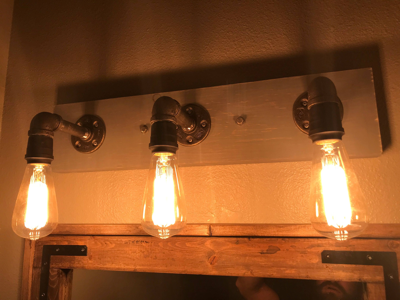 Cast iron edison bulb light fixture