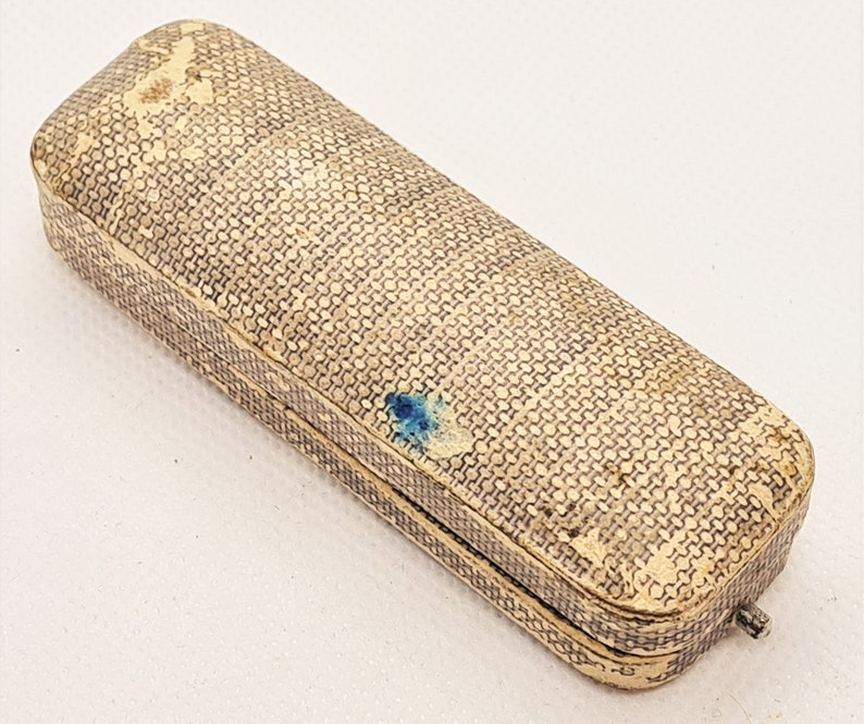 early H Samuel jewellery Edwardian 15 carat gold pearl stick pin in original box stock pin yellow and rose gold tie pin