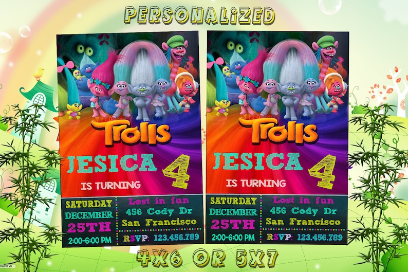 graphic about Printable Trolls Invitations named Trolls Invitation, Trolls Birthday, Trolls Get together, Trolls Invitations, Trolls Printables, Trolls Printable Video clip Invite, Trolls Online video, Troll Card