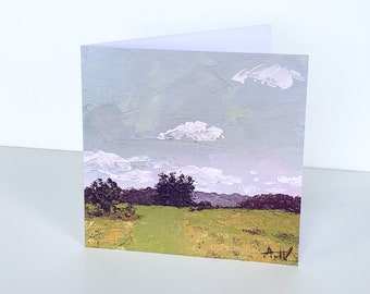 BRITISH LANDSCAPE CARD - Fine Art Greeting Card, Blank Birthday Card, Send Direct, Include a Message, Blank Birthday Card, Painting Print