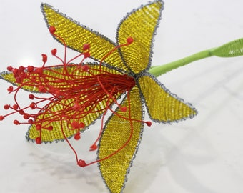 Yellor Beaded Tiger Lily