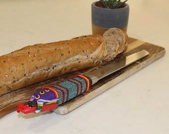 HANDCRAFTED BEADED BREADKNIFE