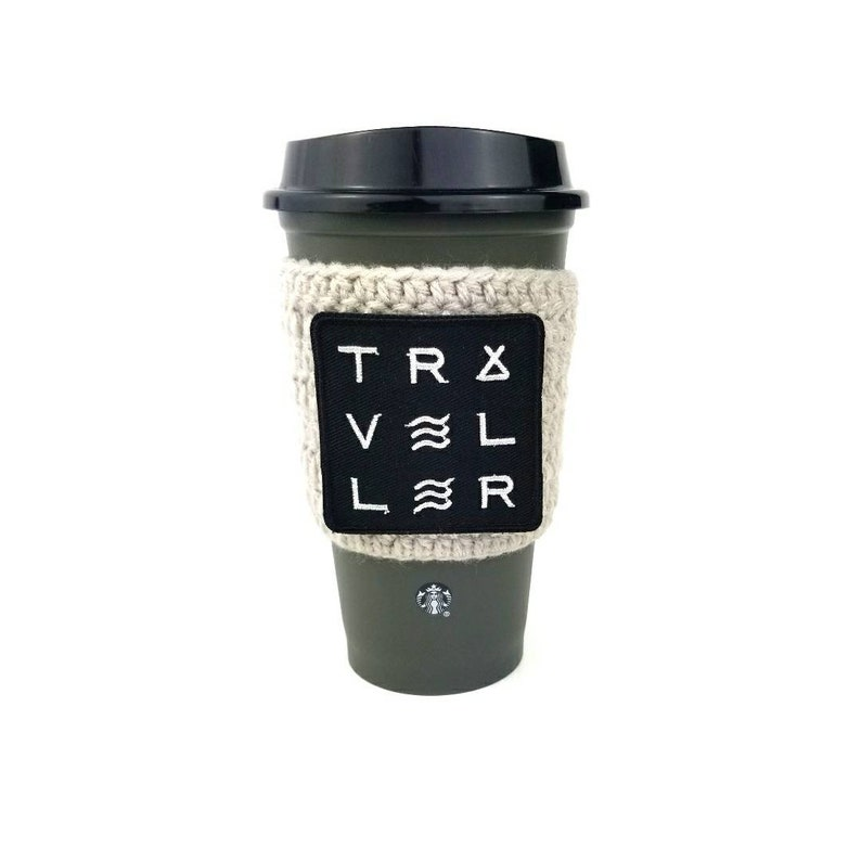 Traveller coffee cozy coffee cozie hiking camping gifts under image 0