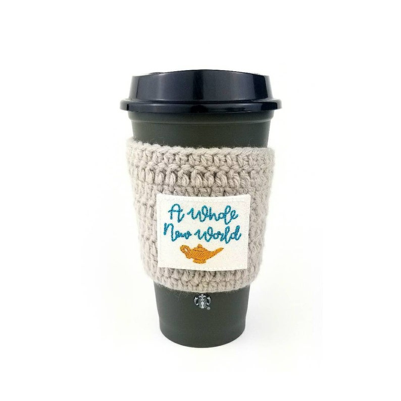A whole new world coffee cozy aladdin coffee cozy disney image 0