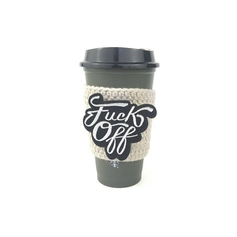 Fuck off coffee cozy coffee cozie curse word gifts under 10 image 0
