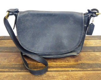 4e73271e17c1 COACH Fletcher Crossbody Bag  4150 Dark Navy Blue Vintage Shoulder Purse