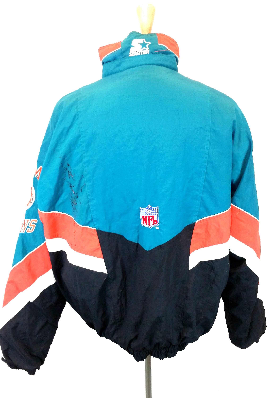 wholesale dealer 30805 66580 Starter Jacket Miami Dolphins, 1990s Football Jacket, Teal ...