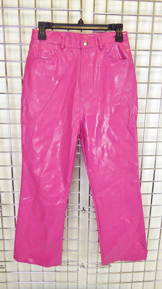 popular style high quality guarantee better price for No Boundaries Hot Pink Glittery Pleather Pants, Women's Tag Size 16, Vintage