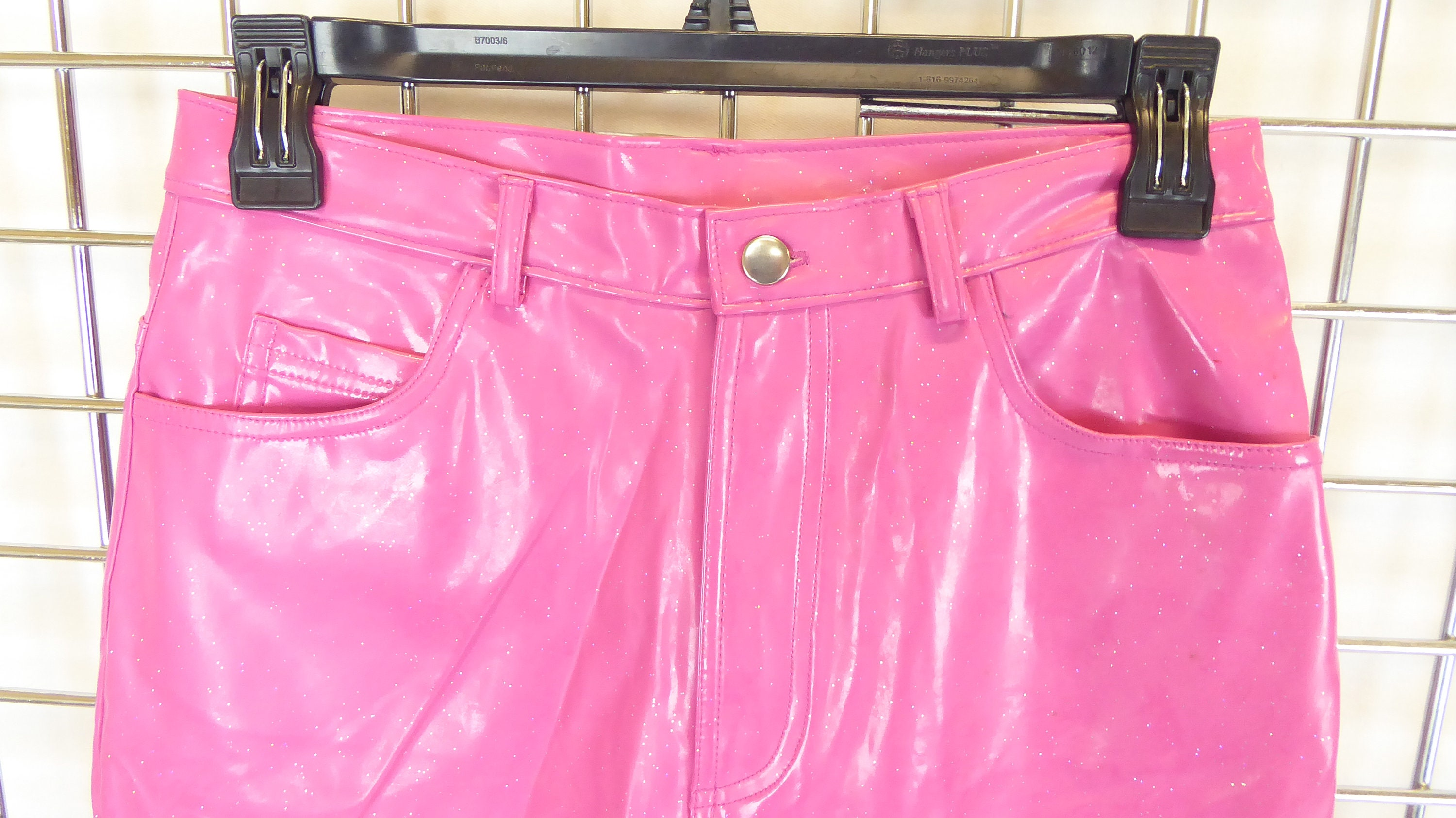 top brands top-rated quality 100% quality No Boundaries Hot Pink Glittery Pleather Pants, Women's Tag ...