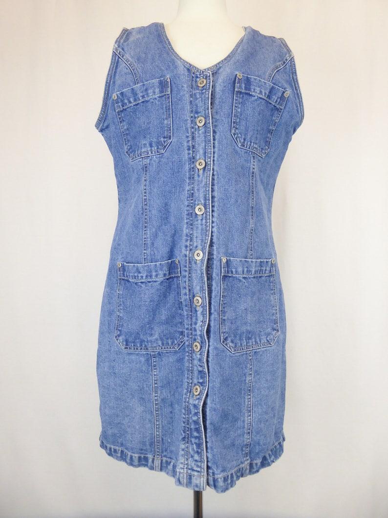 09cacfe1a5b1 90s Denim Dress Bill Blass Jean Dress Women s Size
