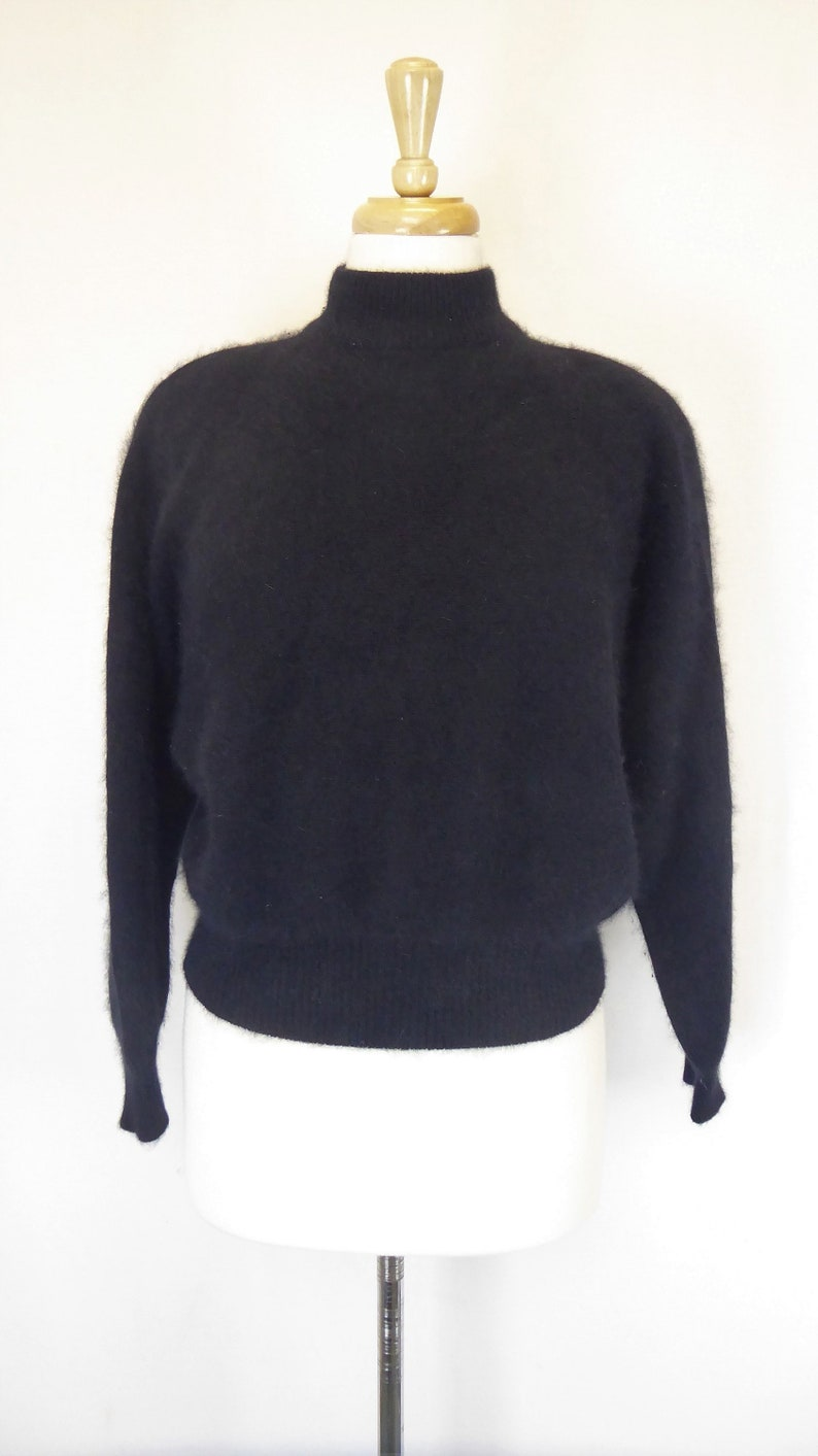 1129b02a55dcb Rafaella Wool Angora Sweater Women s Size Small Black
