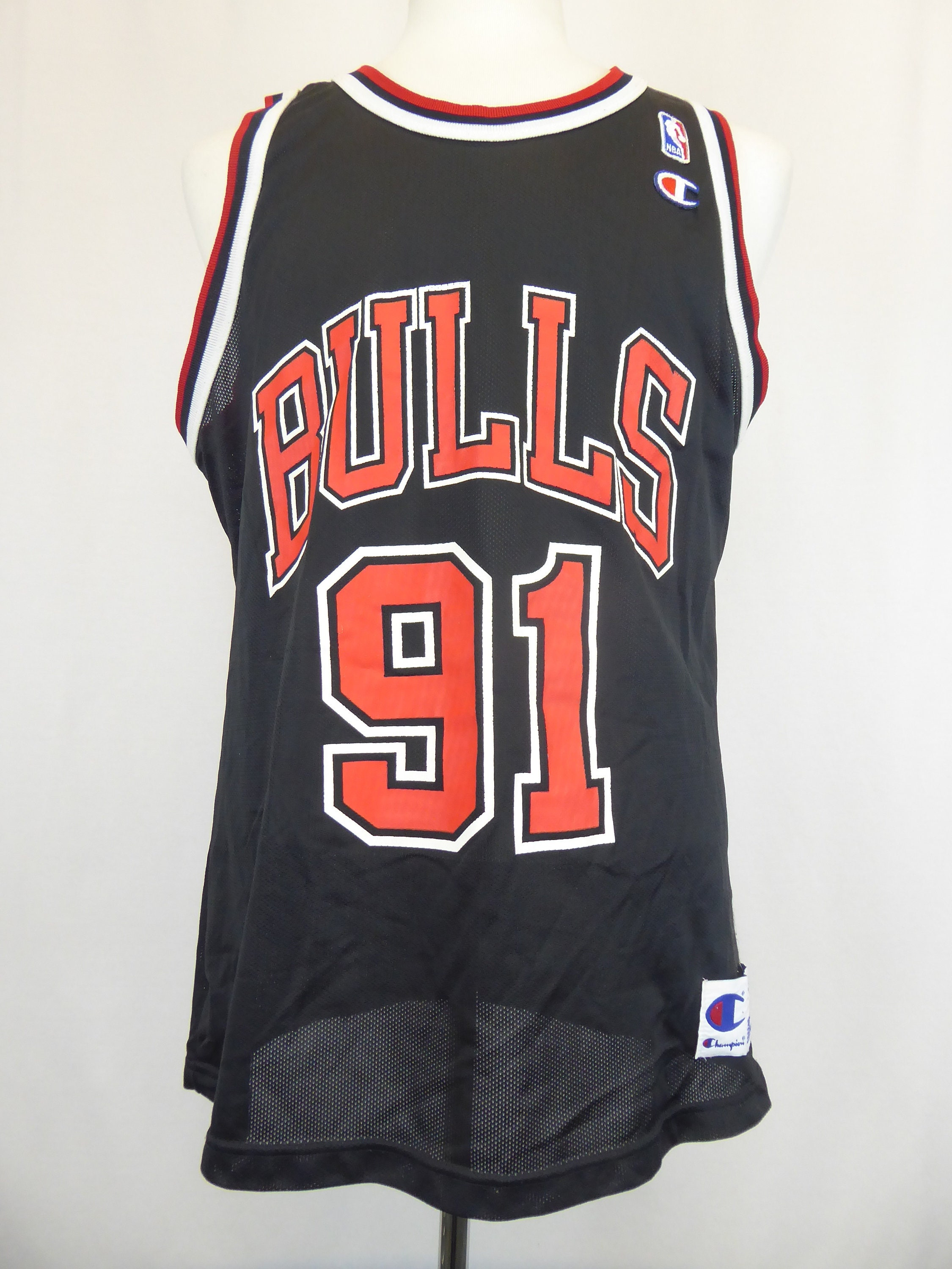 the best attitude ba013 68930 90s Bulls Jersey, Dennis Rodman, Chicago Bulls, Number 91 ...