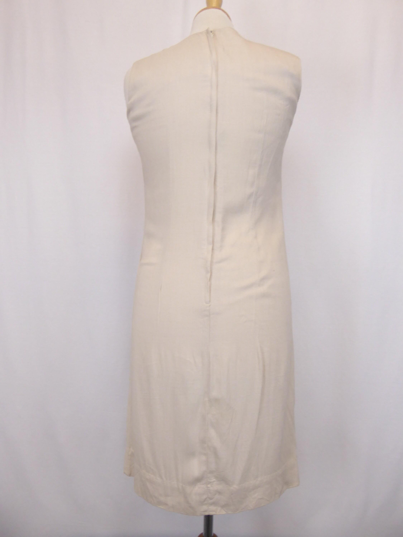 58fc517ba5 50s 60s Linen Dress