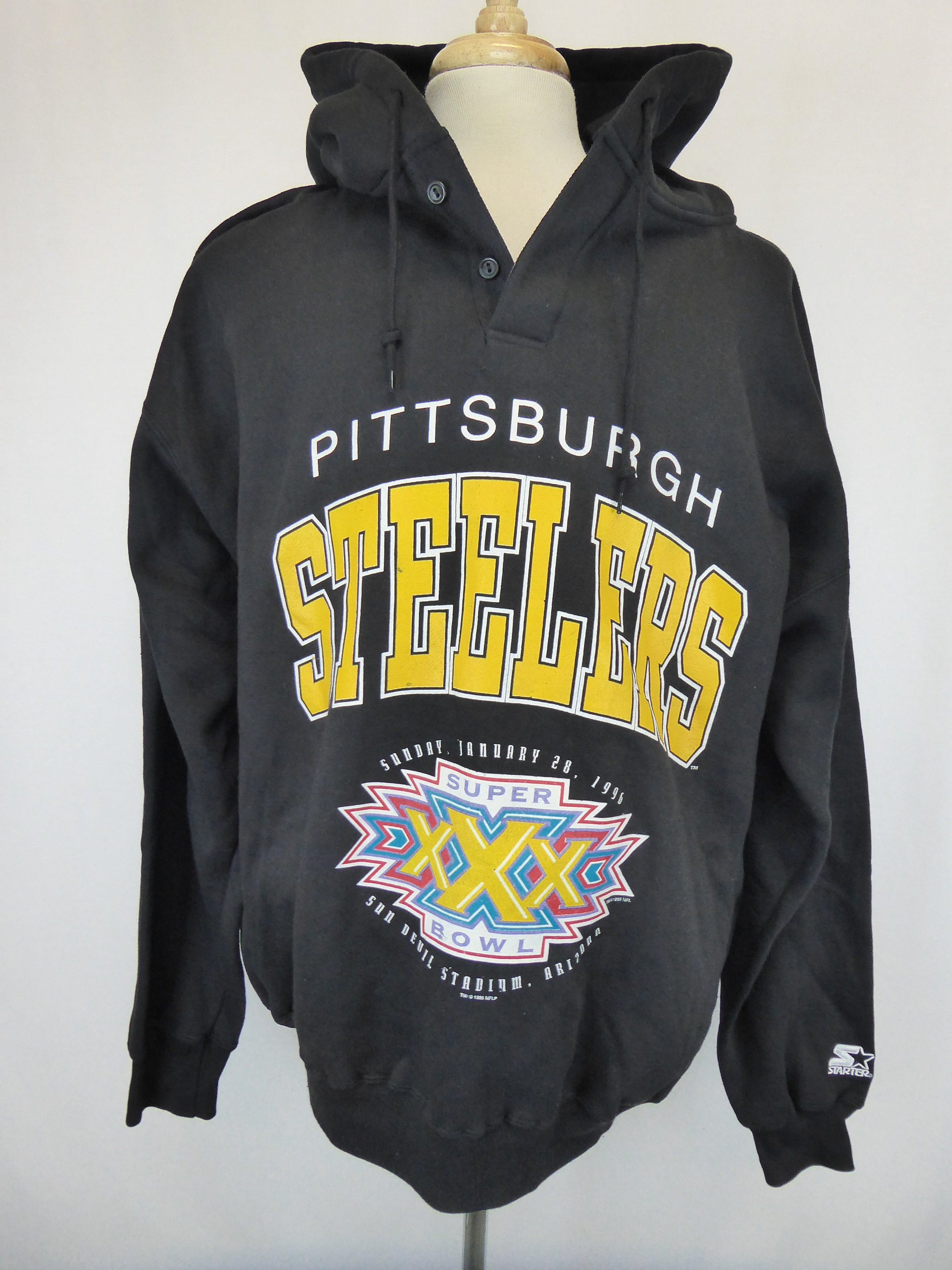 buy online 0f5a2 00a0f 90s Steelers Hoodie, Super Bowl XXX 1996, Pittsburgh ...