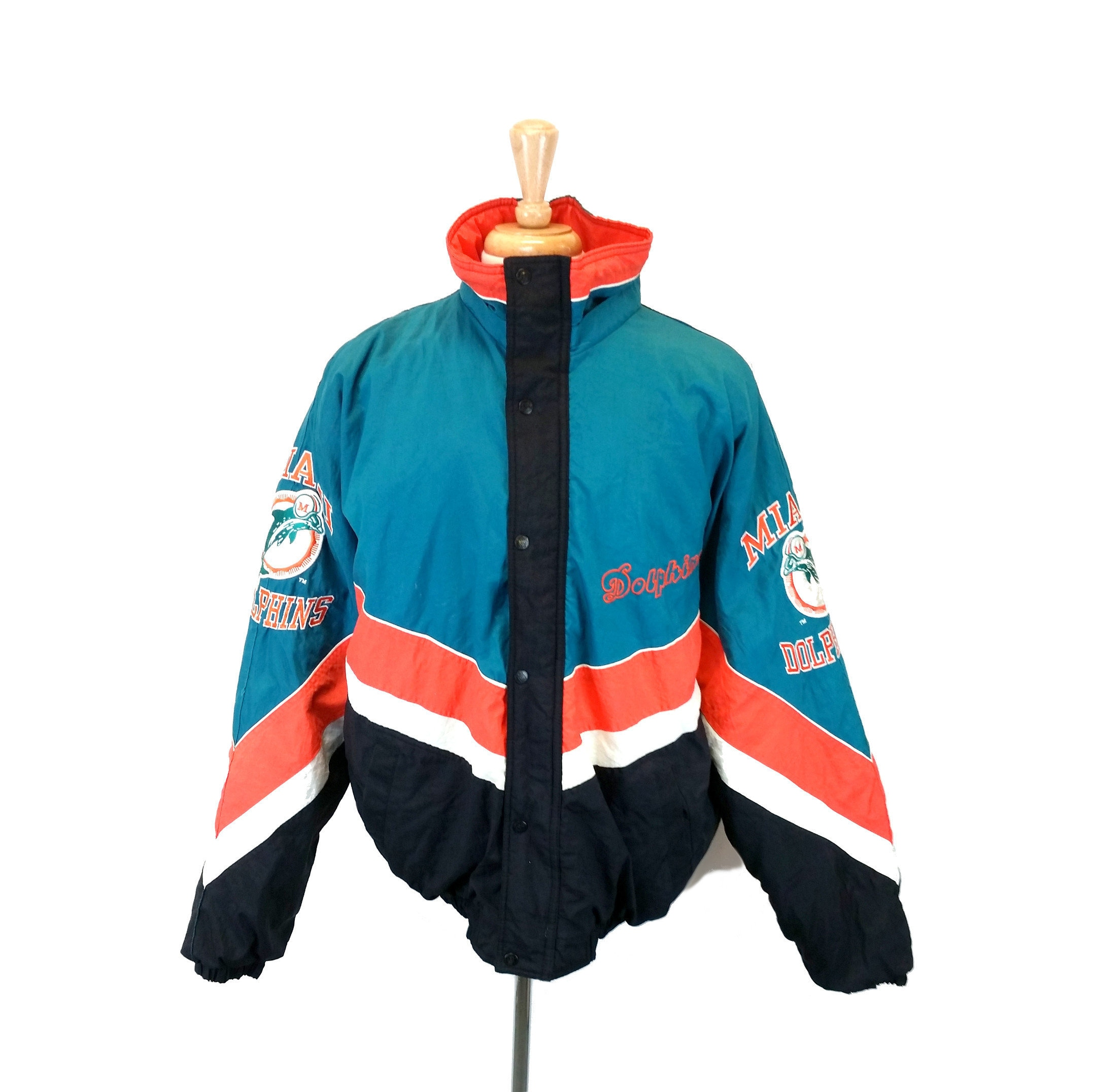 wholesale dealer 15290 cea3d Starter Jacket Miami Dolphins, 1990s Football Jacket, Teal ...
