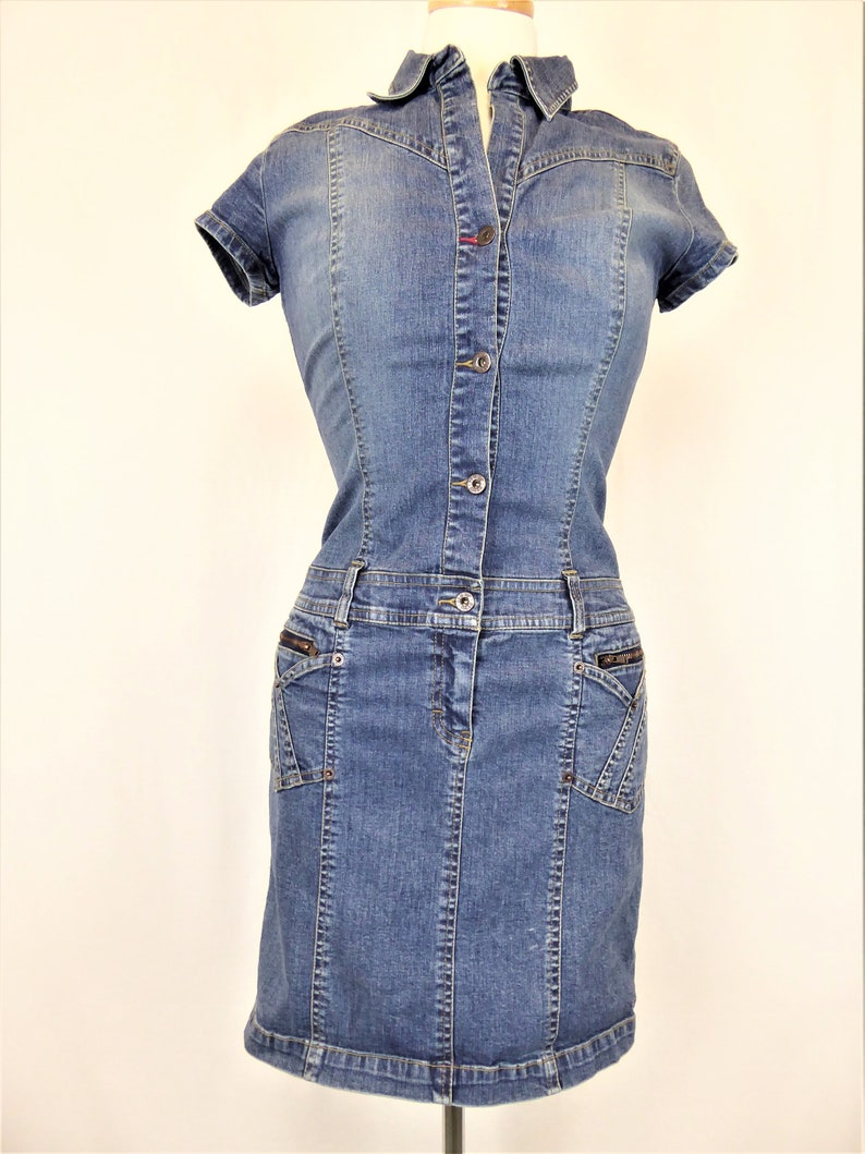 699616003 Tommy Hilfiger Denim Dress Women's Small Tommy Jeans 90s | Etsy