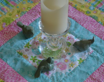 Quilted Spring Chicks Table Runner