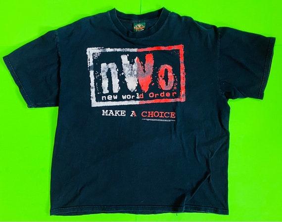 Vintage 1998 WCW NWO wrestling shirt size xl