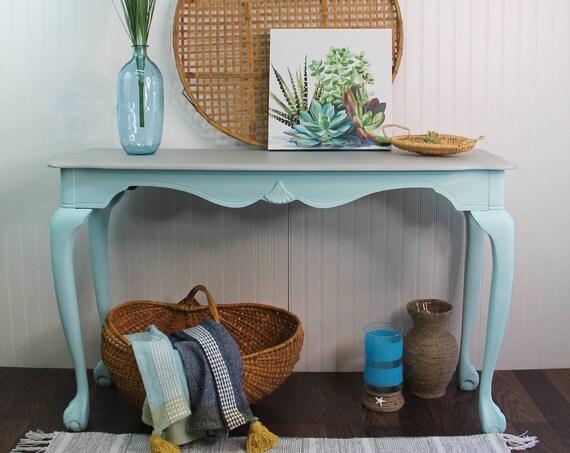 Beach Inspired Entry Table, Sofa Table, Farmhouse Accent Table
