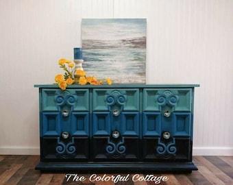 Mediterranean Style Buffet, Blended Blues Buffet, 70u0027s Style Buffet, Beach  Furniture, Coastal Furniture, Living Room Cabinet, Extra Storage