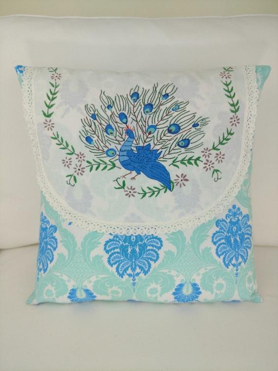 Peacock Pillow Cover