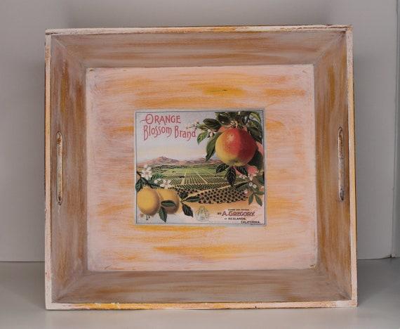 Handmade Wooden Tray, Farmhouse Tray, Farmhouse Vegetable Storage, Yellow Storage Bin, Multipurpose Tray, Wooden Kitchen Tray,