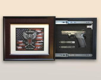 Hidden Gun Frame Etsy