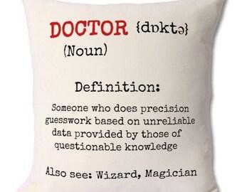 Funny Doctor Gift Medical For Cushion Birthday Dad Husband Son Boyfriend