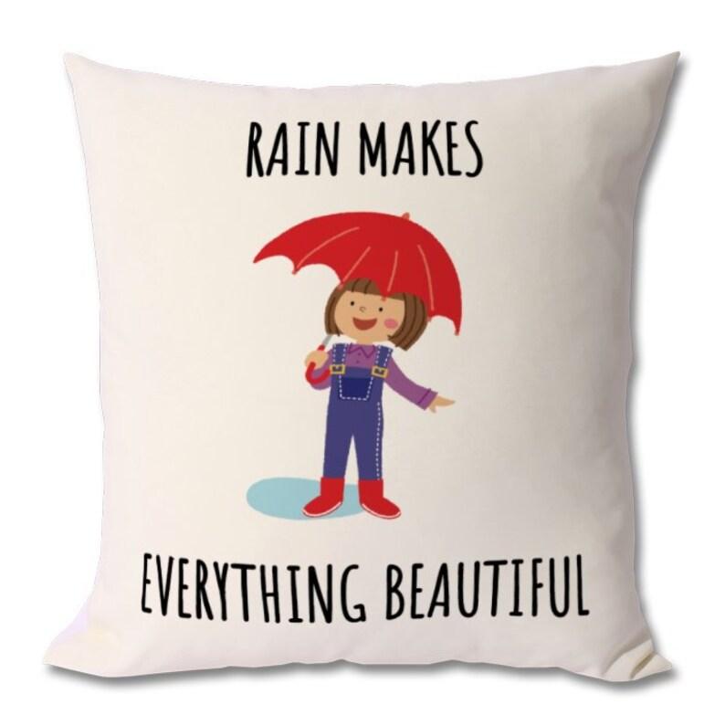 Rain Loverrain Themerain Cushionrain Giftrain Quotescute Etsy