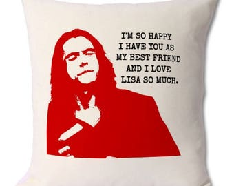 The room cushion,tommy wiseau,the room movie,the room funny,the room lover,the room gift,cult classic,worst movie,movie buff,movie lover