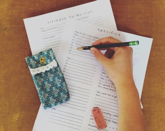 Gretchen's Ultimate To Do List Template (PDF ONLY)