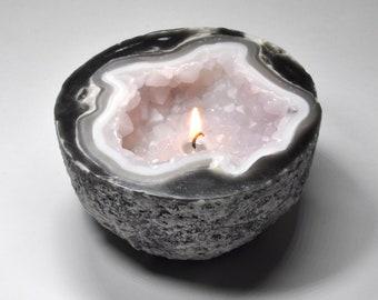 Crystal Geode Quartz Candle