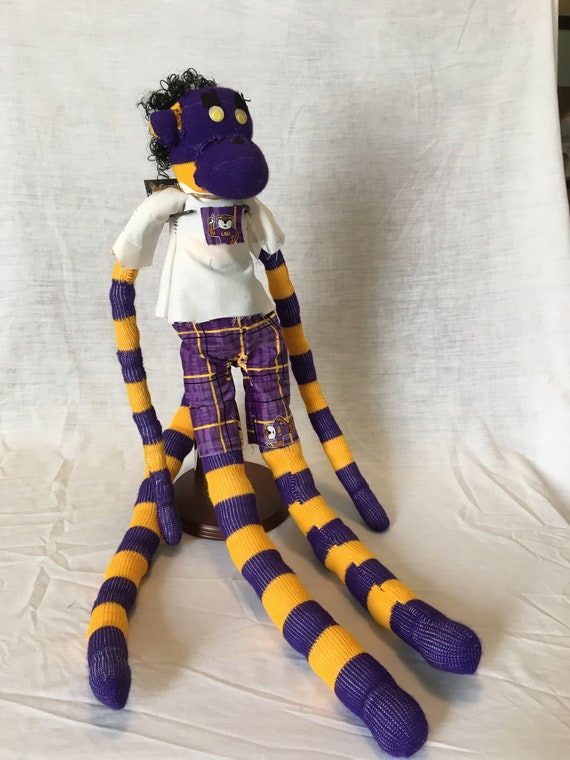 Sock Monkey Lsu Themed Mike The Tiger Etsy