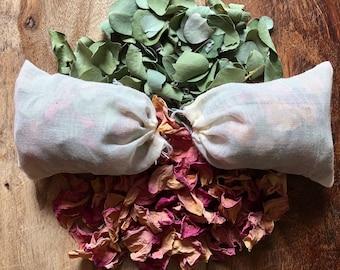 Rose and Eucalyptus bath tea, dried flower bath, Maine grown flowers