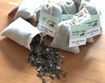 Whole Well Woman bath tea, flower bath, balancing bathing herbs for women