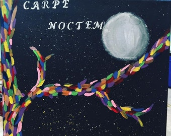 Carpe Noctem Abstract Canvas