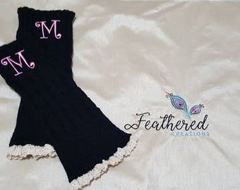 Monogram Girls Leg Warmers
